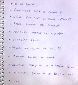 Lista de coisas a fazer