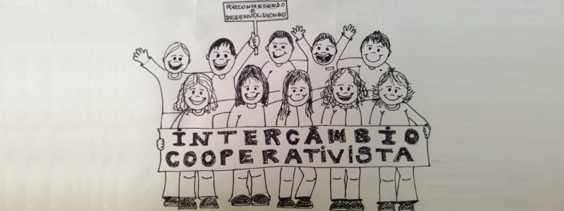 Desenho intercâmbio cooperativista